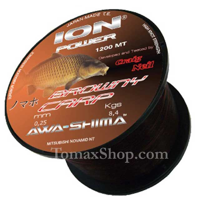 ION POWER BROWNY CARP 1200m. 0.350, влакно