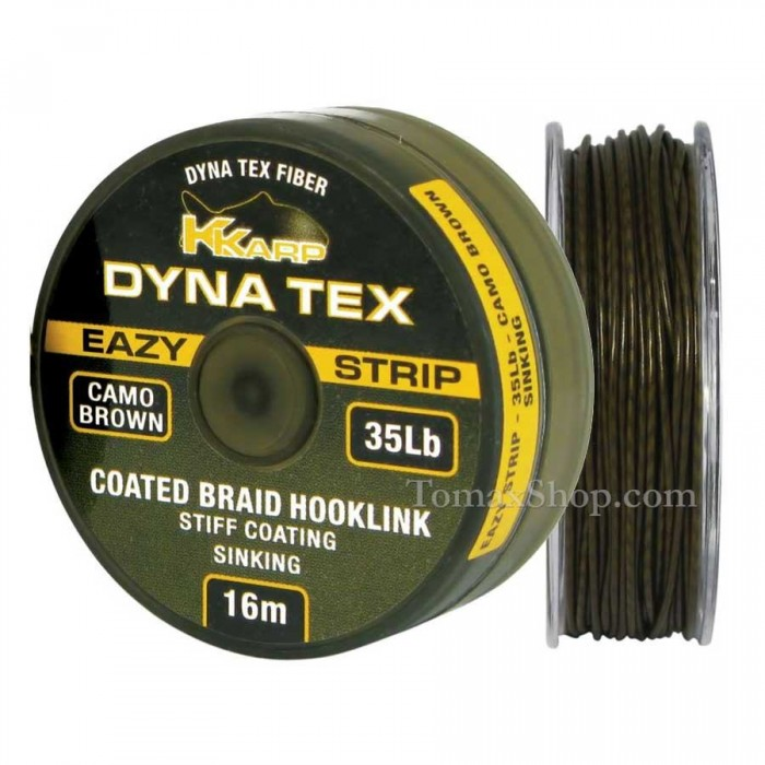 DYNA TEX EAZY STRIP CAMO BROWN 16m. 25Lbs., плетено влакно