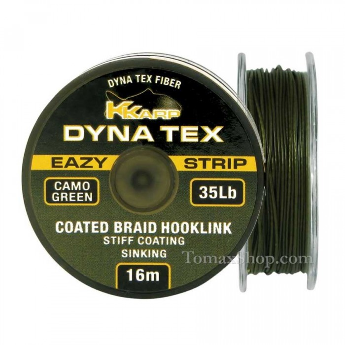 DYNA TEX EAZY STRIP CAMO GREEN 16m. 35Lbs., плетено влакно