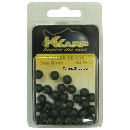 K-KARP RUBBER BEADS, стопери 8 мм.