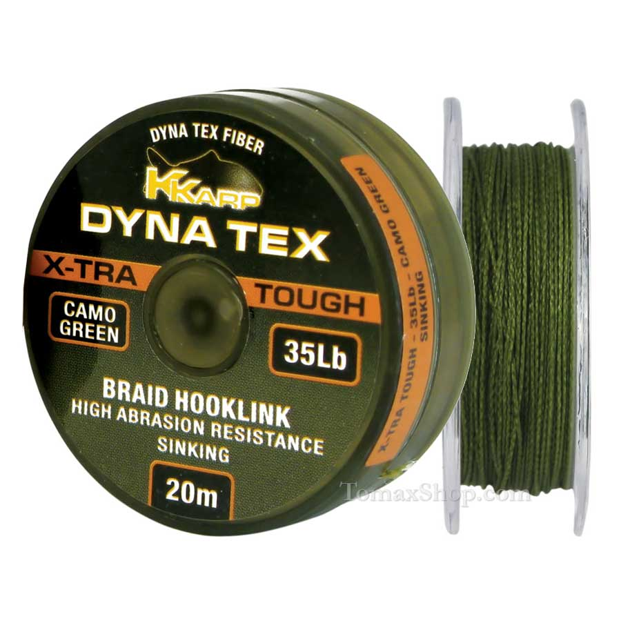 DYNA TEX X-TRA TOUGH CAMO GREEN 20m, плетено влакно