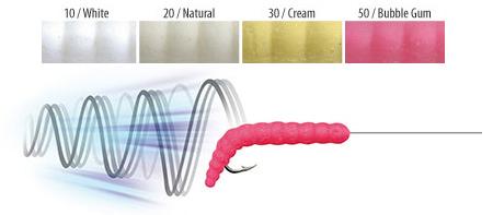 TRABUCCO YUMMY BAIT BRUCONE, въртеливи движения на изкуствените червеи