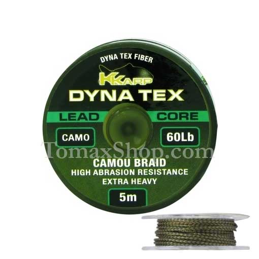 DYNA TEX LEAD CORE CAMO 5m. 60Lbs., плетено влакно